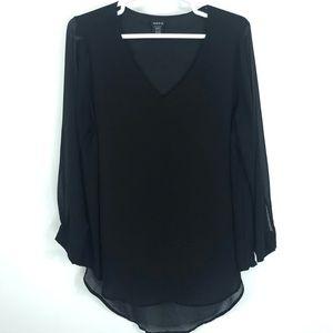 Torrid v-neck blouse long sleeve size 2